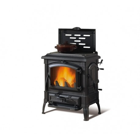 Cast iron wood burning stove with hob rings ISETTA CON CERCHI EVO